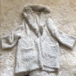 Sleeping on snow jacket
